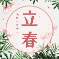 文艺清新立春公众号小图
