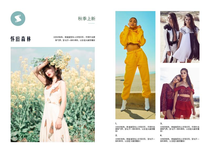 服装行业宣传折页