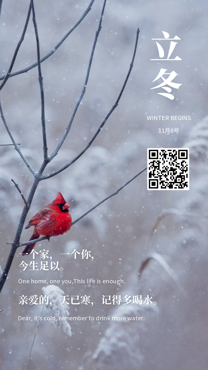 立冬二十四节气营销海报