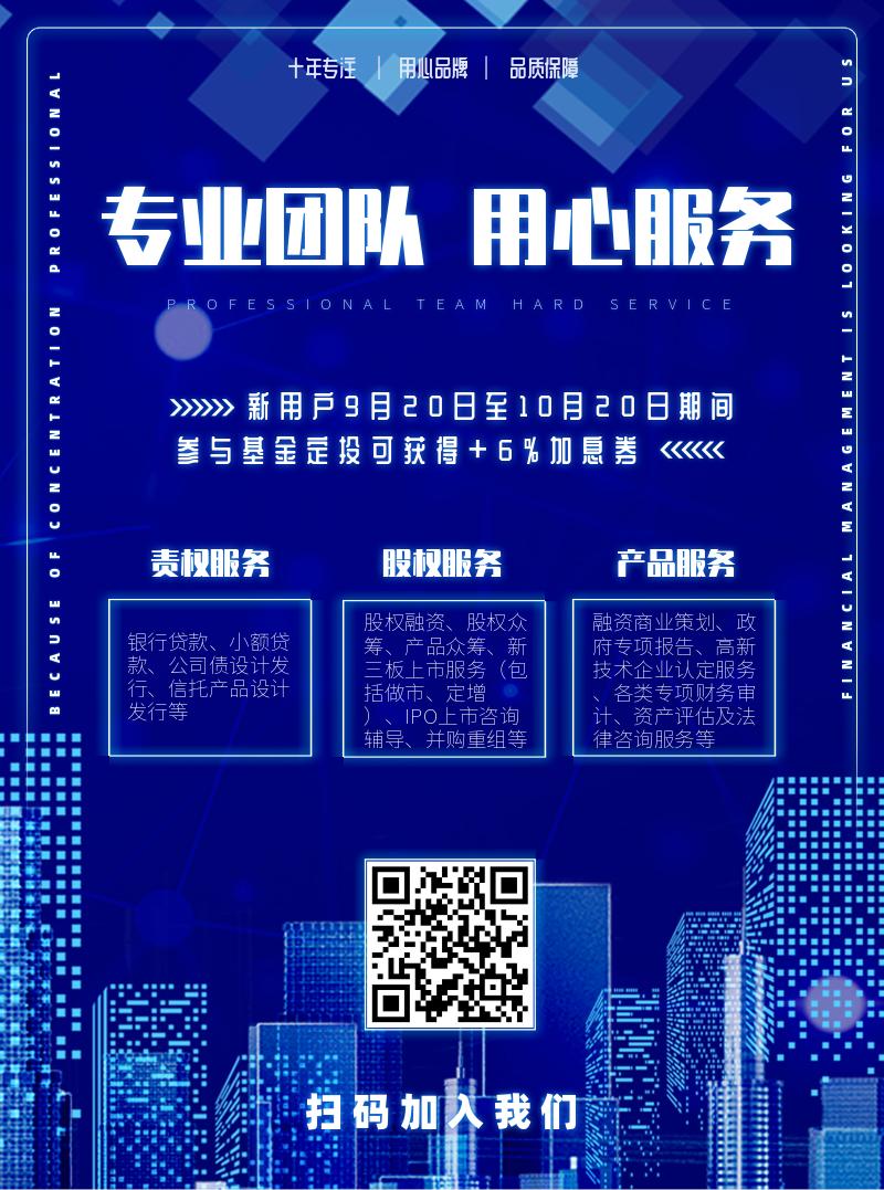 蓝调科技金融投资DM宣传单