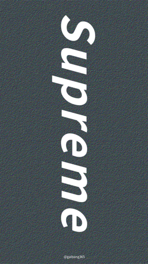 简约黑色supreme手机壁纸