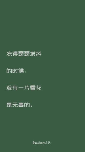 简约绿色影视台词文字控壁纸