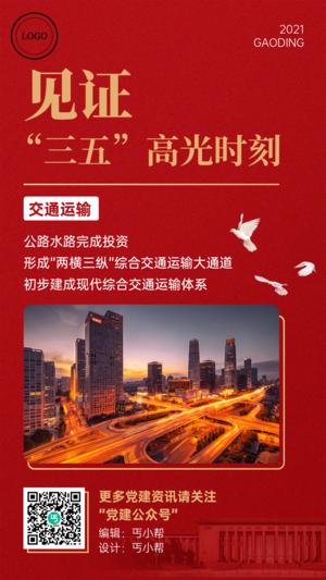 党政政务日报快讯新闻手机海报